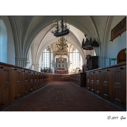 Kerkinterieur Falsterbo