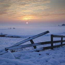 winter zonsondergang katwoude 1