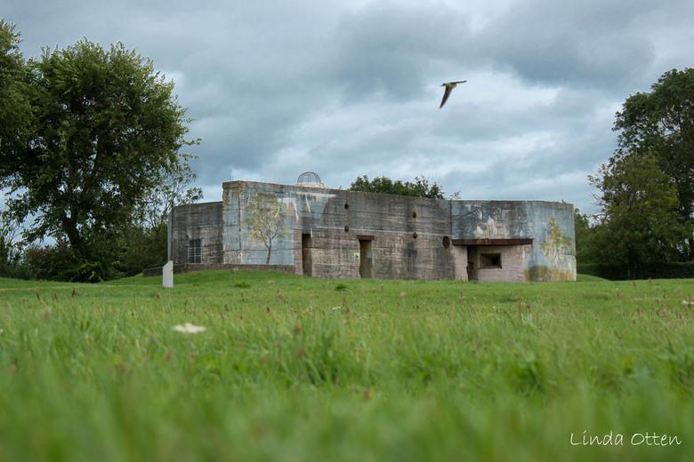 Bunker Batterie d'Azeville  - Duitse bunker Batterie d'Azeville, ten zuiden van Utah beach, Normandië