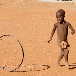 Himba child playing