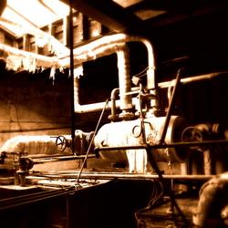 In een oude drukkerij