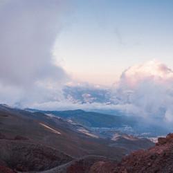 Uitzicht vanaf vulkaan Etna