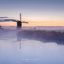 Broekmolen in Streefkerk met mist