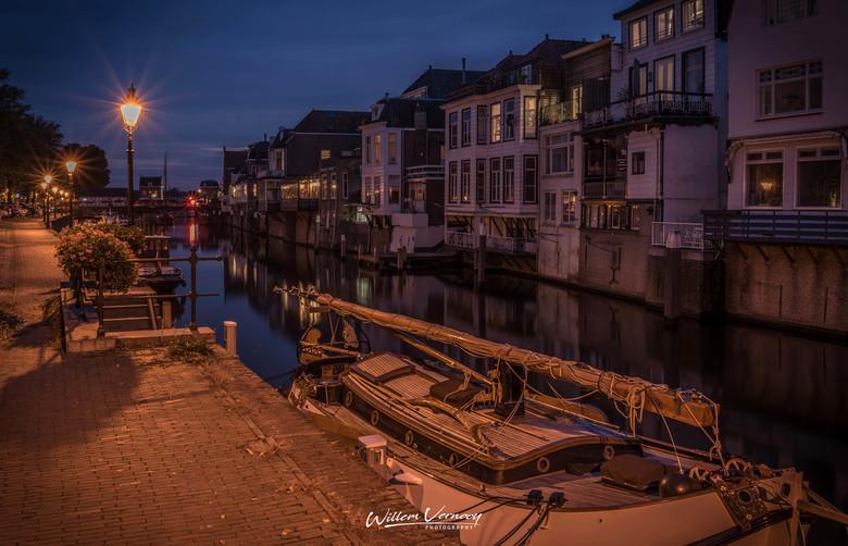 lingehaven 2019 - De Lingehaven in Gorinchem in de avond.