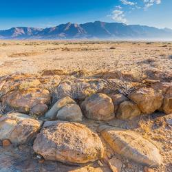 Zicht op de Brandberg in Namibië