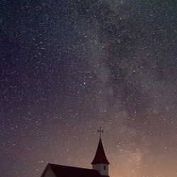 Milky Way in Vik, IJsland