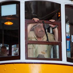 Trambestuurder in Lissabon