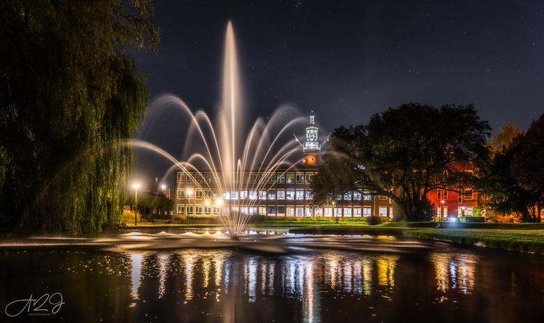 Night Fountain -
