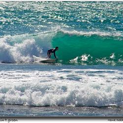 Surfer in't groen