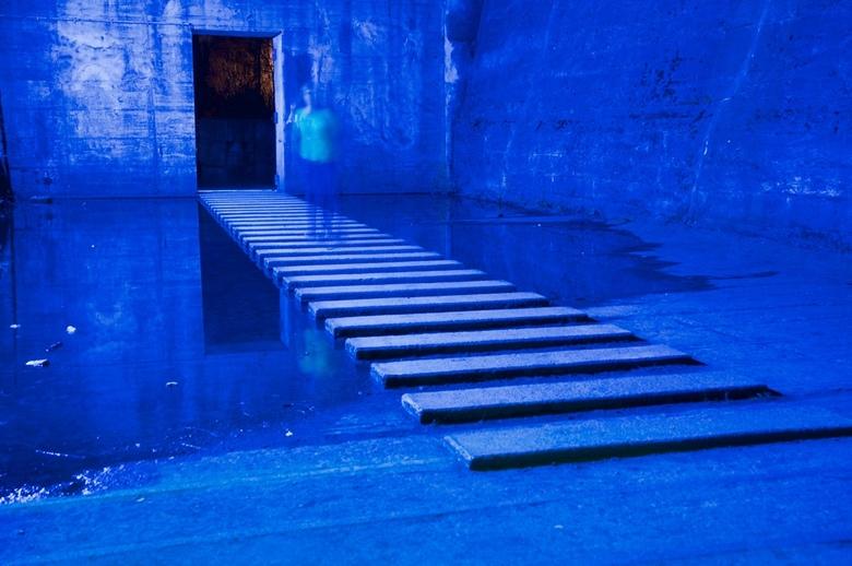 blauw met schim -