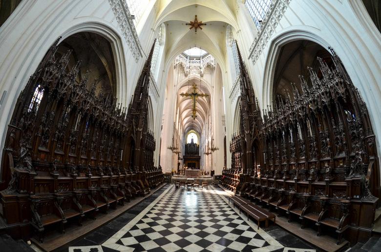 Onze lieve vrouwenkerk in Antwerpen - Prachtig die koorbanken in de OLV Kerk in Antwerpen.