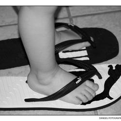 """in Papa zijn """"schoenen"""""""