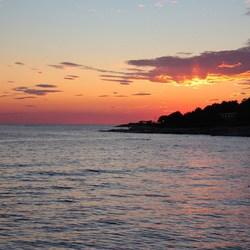 Zonsondergang Porec, Kroatie