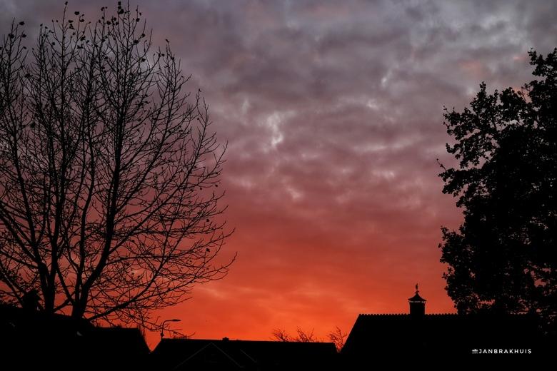 Lucht net na zonsondergang -