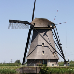De molen van Kinderdijk