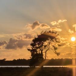 Zonsondergang op de Strabrechtse Heide