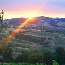 Zonsondergang Toscaanse heuvels