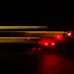 Met een snel treinvaart.....