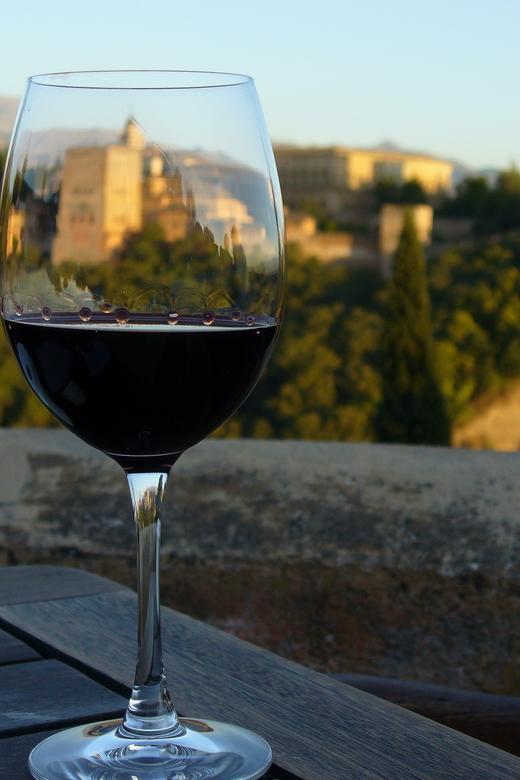 Proost! - Alhambra bij zonsondergang