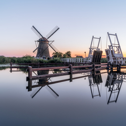 Blue hour in Kinderdijk