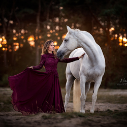 Elah met haar prachtige paard Zita
