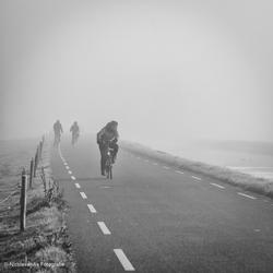 Mist in zwart-wit.