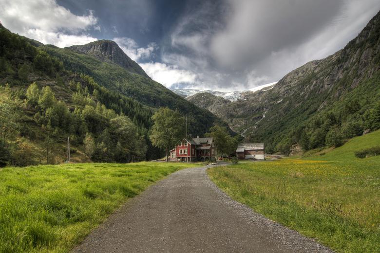 Folgefonn Odda Noorwegen - Gletsjer bij Odda Folgefonna in Noorwegen