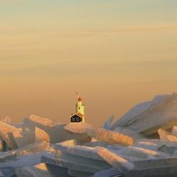 Kruiend ijs Marken