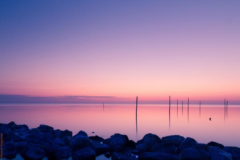 fuik stokken Ijsselmeer sunrise.jpg - fuik stokken Ijsselmeer sunrise.jpg