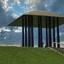 Dijktempel op de waddendijk in Friesland