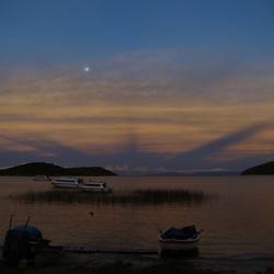 zonsondergang Isla del Sol