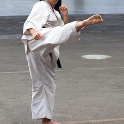 Karate demonstratie
