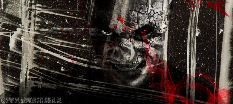 Dark Art - Dark Art werkstuk van n zelfportret.