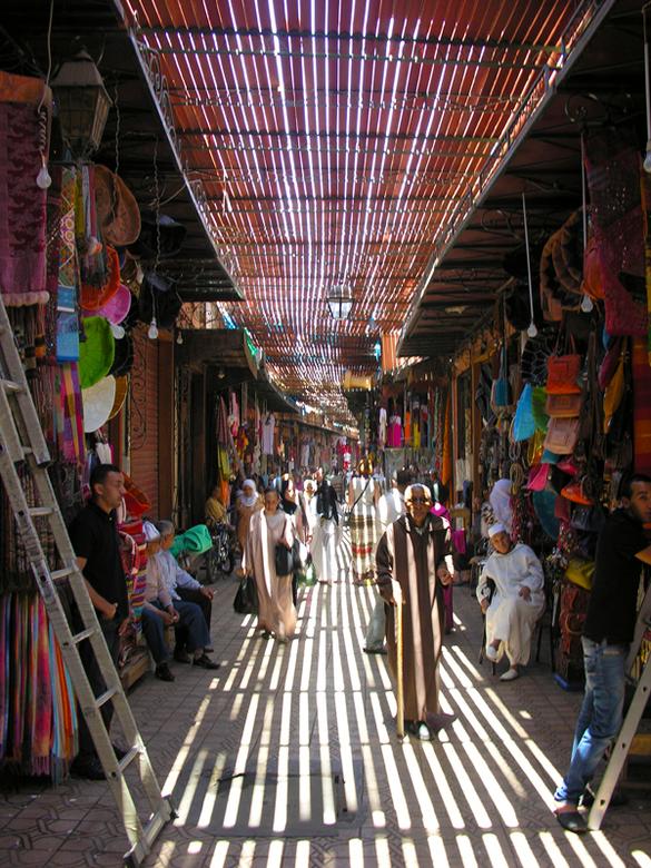 De Souk in Marrakesh -