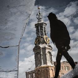 Reflectie Amsterdam Munttoren