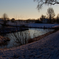 Winters weer in Klundert