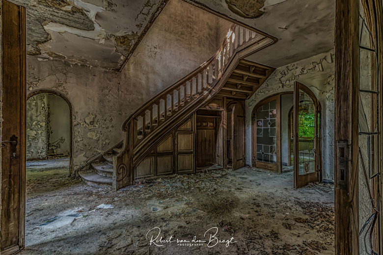 Abandoned stairs  - Abandoned stairs in Belgium, visit 2018