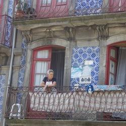 Porto straat scene, Portugal