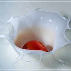 Tomaatje in yoghurt