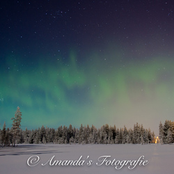 Aurora borealis in Fins-Lapland
