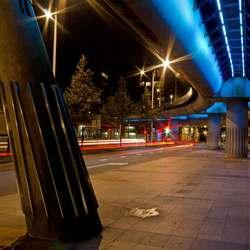 Viaduct randstadrail in Beatrixkwartier te Den Haag