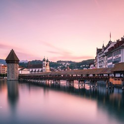 Sunset in Luzern
