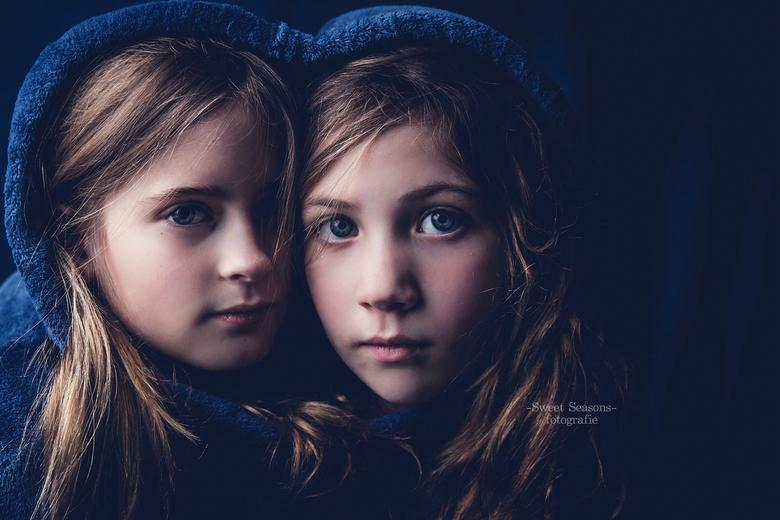 heart in blue -