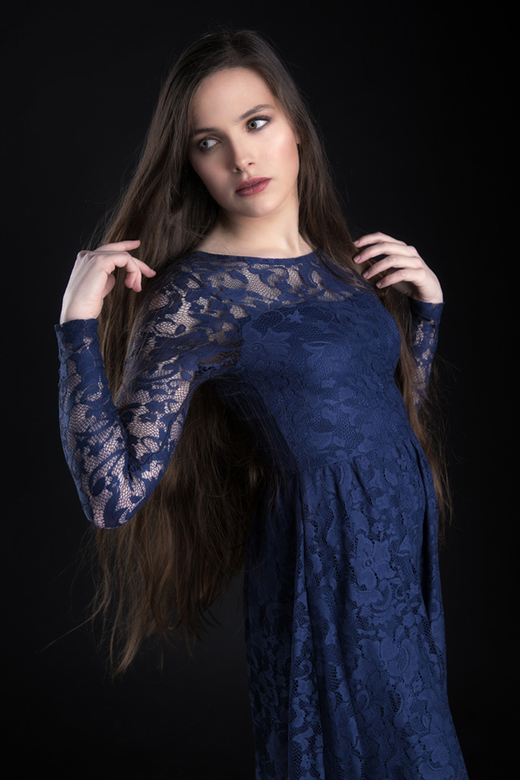 blue dress - model Anibor