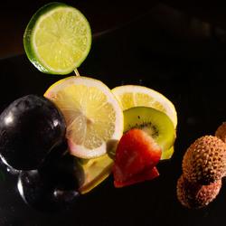 fruit op spiegel