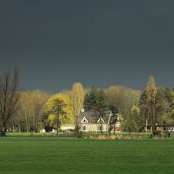 eventjes nog licht voor regen en donder