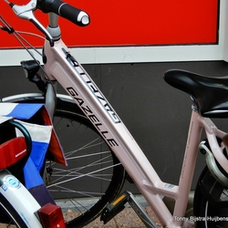 pink fiets