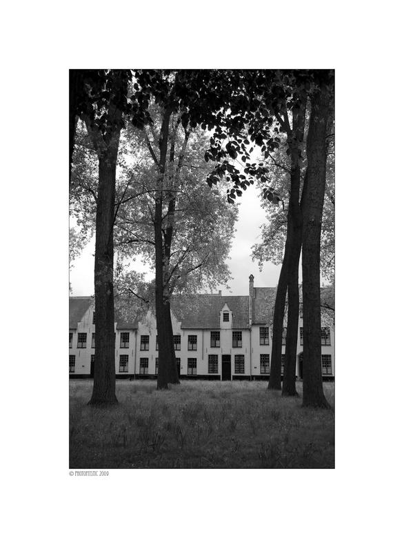 Begijnhof Brugge - Het Witte Dorp II - Moet voor de opdracht fotografie een reportage maken. Ontbrak me aan tijd en heb het dichtbij gezocht. Ben naar