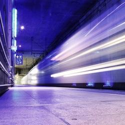 Trein in centraal station Antwerpen