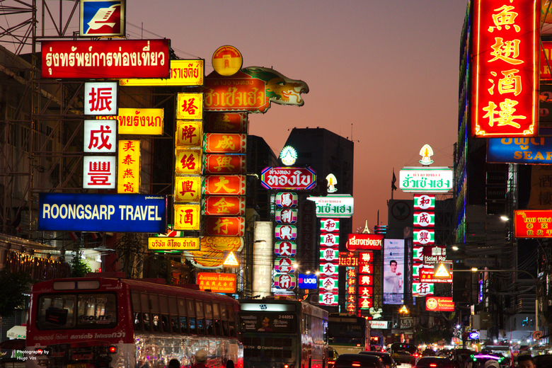 Chinatown Bangkok - Chinatown Bangkok in de avond.